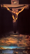 Christ of St. John of the Cross painting reproduction, Salvador Dali (inspired by)