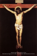 Christ on the Cross painting reproduction, Diego Velazquez