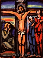 Christ on the Cross by Georges Rouault