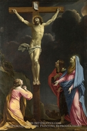 Christ on the Cross with the Virgin and Saints by Eustache Le Sueur