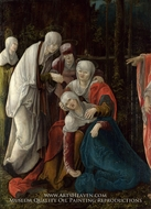 Christ Taking leave of his Mother painting reproduction, Wolf Huber