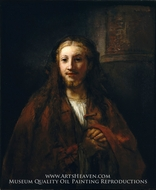 Christ with a Staff by Rembrandt Van Rijn