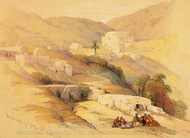 Christian Church of St. George at Lud painting reproduction, David Roberts