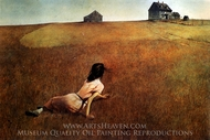 Christina's World painting reproduction, Andrew Wyeth