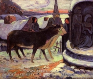 Christmas Night by Paul Gauguin
