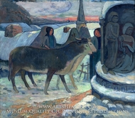 Christmas Night painting reproduction, Paul Gauguin