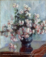 Chrysanthemums by Claude Monet