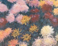 Chrysanthemums painting reproduction, Claude Monet