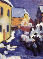 Church Yard and Vicarage in Kochel by Wassily Kandinsky
