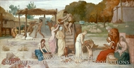 Cider painting reproduction, Pierre Puvis De Chavannes