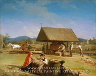 Cider Making painting reproduction, William Sidney Mount