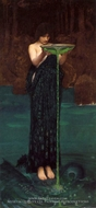Circe Invidiosa painting reproduction, John William Waterhouse