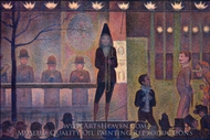 Circus Sideshow painting reproduction, Georges Seurat
