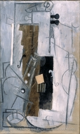 Clarinet and Violin by Pablo Picasso (inspired by)