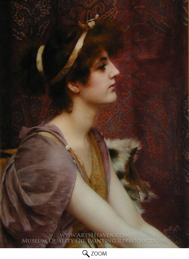Painting Reproduction of Classical Beauty, John William Godward