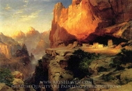 Cliff Dwellers painting reproduction, Thomas Moran