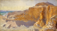 Cliffs at Deir el Bahri, Egypt by John Singer Sargent
