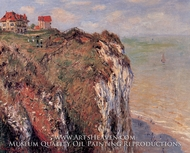 Cliffs at Dieppe by Claude Monet