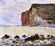 Cliffs of Les Petites-Dalles by Claude Monet