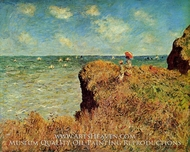 Clifftop Walk at Pourville painting reproduction, Claude Monet
