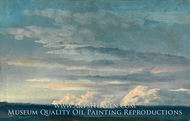 Cloud Study painting reproduction, Johan Christian Dahl