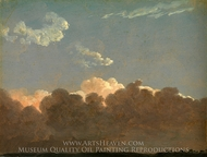 Cloud Study (Distant Storm) painting reproduction, Simon Denis