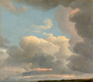 Cloud Study (Early Evening) painting reproduction, Simon Denis