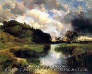 Cloudy Day at Amagansett by Thomas Moran