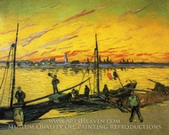 Coal Barges painting reproduction, Vincent Van Gogh