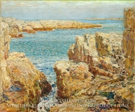 Coast Scene, Isles of Shoals painting reproduction, Childe Hassam