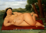 Colombiana painting reproduction, Fernando Botero