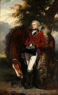 Colonel George K. H. Coussmaker, Grenadier Guards painting reproduction, Sir Joshua Reynolds