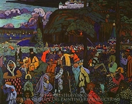 Colorful Life painting reproduction, Wassily Kandinsky