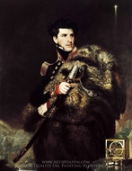 Commander James Clark Ross painting reproduction, John R. Wildman