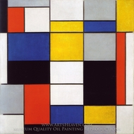 Composition A painting reproduction, Piet Mondrian