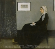 Composition in Black and Grey, the Artist's Mother painting reproduction, James McNeill Whistler