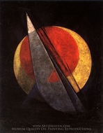 Composition Overcoming Red painting reproduction, Alexander Rodchenko