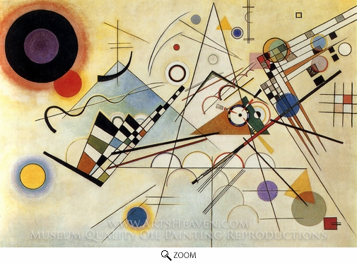 Wassily Kandinsky, Composition VIII (No. 8) oil painting reproduction