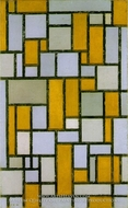 Composition with Gray and Light Brown by Piet Mondrian