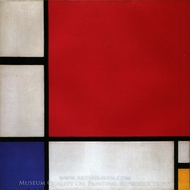 Composition with Red, Blue and Yellow painting reproduction, Piet Mondrian