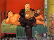 Concierto painting reproduction, Fernando Botero