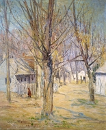 Connecticut Village (Going to School) painting reproduction, Julian Alden Weir