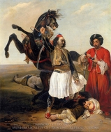 Conquerer of D Hassan painting reproduction, Horace Vernet