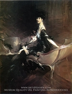Consuelo, Duchess of Marlborough with Her Son painting reproduction, Giovanni Boldini