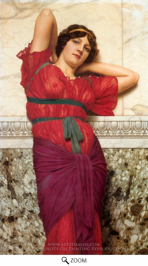 John William Godward, Contemplation oil painting reproduction