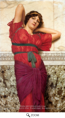 Painting Reproduction of Contemplation, John William Godward