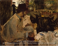 Conversation painting reproduction, Edouard Vuillard
