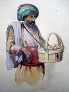Cookie Seller painting reproduction, Amedeo Preziosi