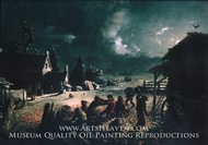 Corn Husking painting reproduction, David Gilmour Blythe