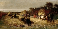 Corn Husking at Nantucket painting reproduction, Eastman Johnson